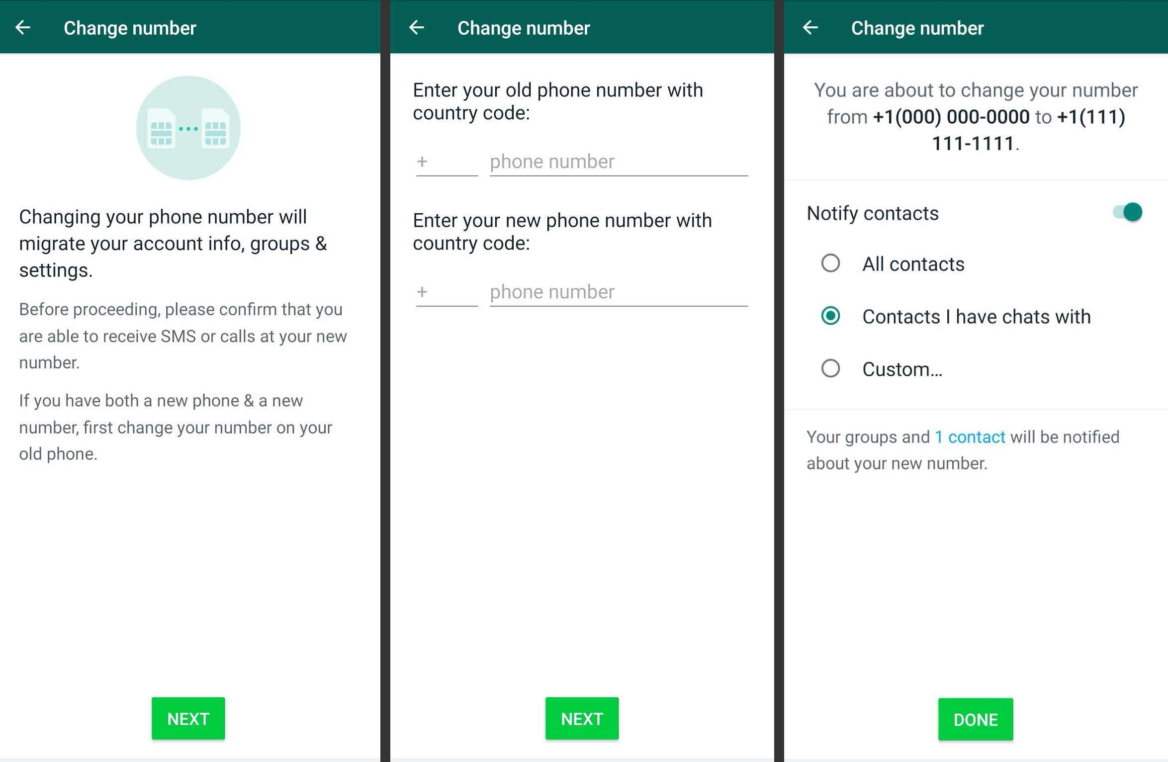 Change WhatsApp Number And Keep Messages